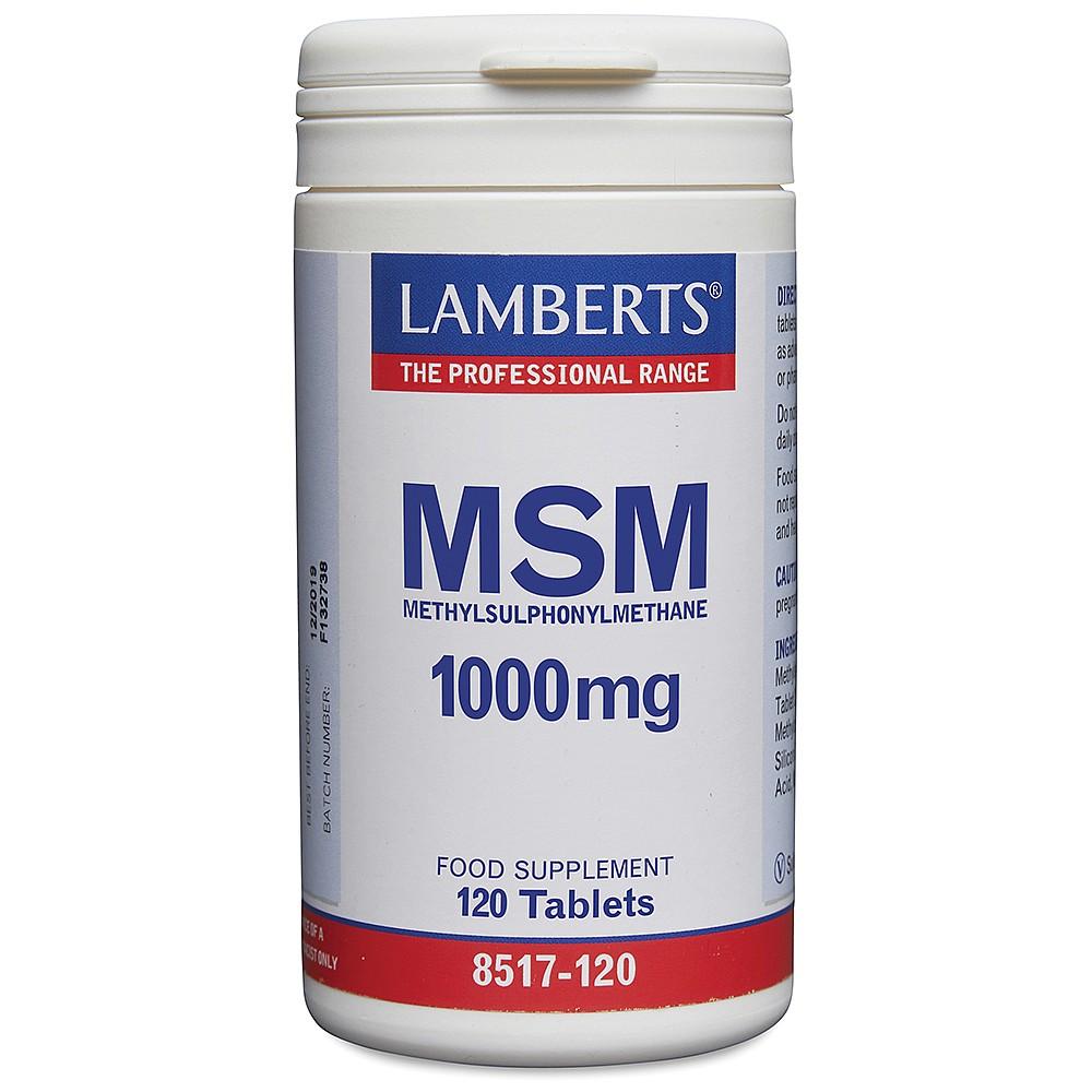 MSM 1000mg   MSM   Lamberts Healthcare