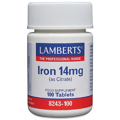 Iron 14mg (as Citrate)